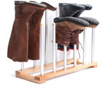 6 pair boot drying rack