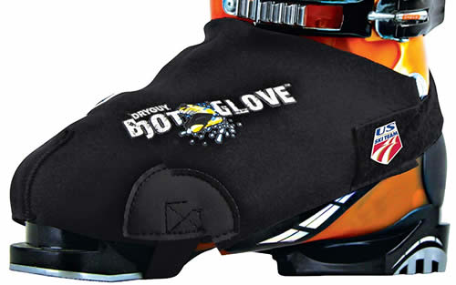 Ski boot cover for warmer feet